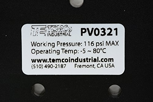 Spring Return Lever Pneumatic Air Control Valve 5 Port 4 Way 3 Position 3/8'' NPT by Temco (Image #5)
