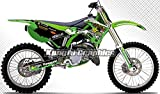 Kungfu Graphics Rockstar Custom Decal Kit for Kawasaki KX125 KX250 1999 2000 2001 2002, Green