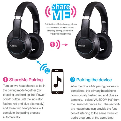 how to connect ausdom wireless headphones