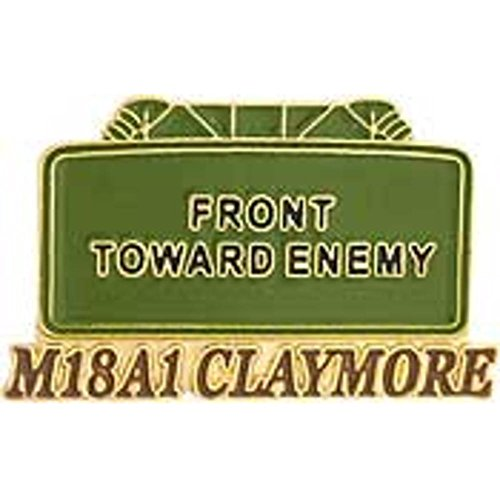 Claymore Mine Pin 1""