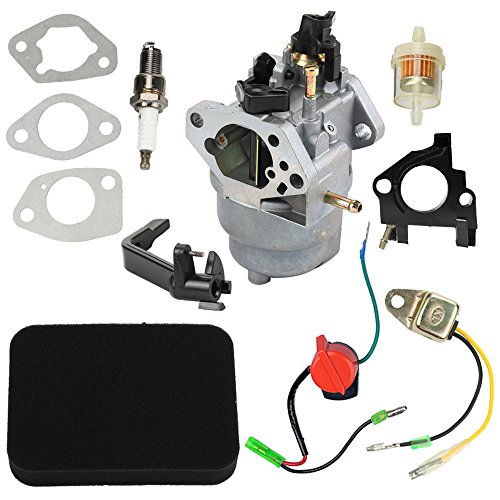 Hipa 0J25910112 Carburetor with Air Filter Tune Up Kit for Generac GP6000E GP6500E GP7500 GP7500E GP8000E 420cc Portable Generator