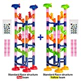 Marble Run Challenge 122 piece set. Race to the Bottom. Marbles Will Not Get Stuck.