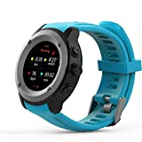DSMART SP3 GPS Sports Smartwatch Fitness Tracker with Altimeter Barometer Heart Rate Monitor Pedometer Professional for Outdoor Running Cycling Hiking Mountaineering (Blue)