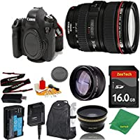 Great Value Bundle for 6D DSLR – 24-105MM L + 16GB Memory + Wide Angle + Telephoto Lens + Backpack