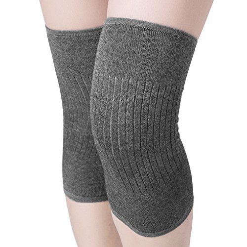 (Men Women Cashmere Knee Braces Supports Leg Warmer Winter Warm Thermal Wool Cycling Ski Running Knee Brace Pad Thicken Knee Pads Sleeve Knee Warmers 1 Pair)