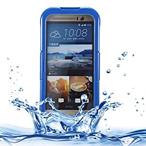 IP x 8 PVC + Silicone Transparent Universal Waterproof Protective Case with Lanyard for HTC M7 / M8 / M9 (Dark Blue)