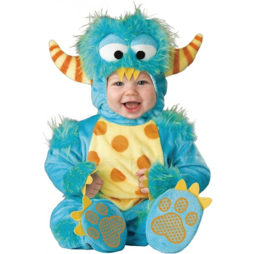 Babies Halloween Costumes (InCharacter Unisex Baby Monster Costume, Blue/Yellow/Orange, Large)