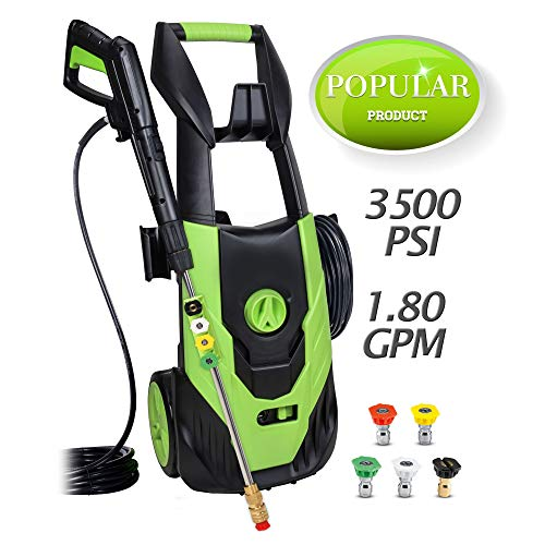 Azoran 3500 PSI 1.8 GPM Cold Water Electric Pressucre Washer, Electric Power Washer, 5 Quick-Connect Spray Tips