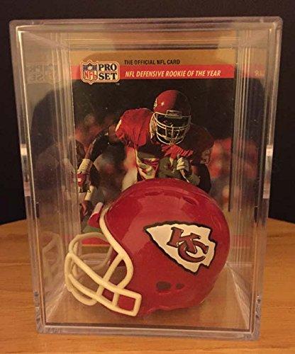 low priced 0071a 6b795 Kansas City Chiefs Throwback NFL Helmet Shadowbox w/ Derrick Thomas card
