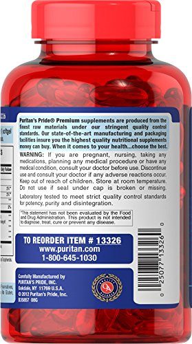 025077133260 - Puritan's Pride Nutritional Softgels, Omega-3 Fish Oil, 1200 mg, 100 Count carousel main 3