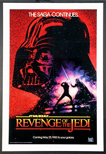 REVENGE OF THE JEDI STAR WARS DATED ADVANCE 1983 ORIGINAL ONE SHEET 27X41 MOVIE POSTER LINENBACKED