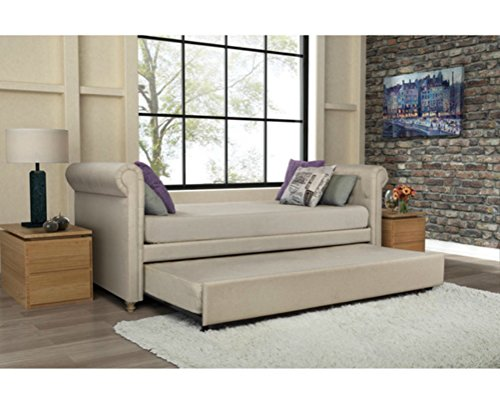 Superieur Amazon.com: Best Trundle Sofa Bed Beautiful Modern Amazing Detail Interior  Upholstered Comfortable Fold Out Sleeper Daybed Living Room Teenagers  Bedroom: ...