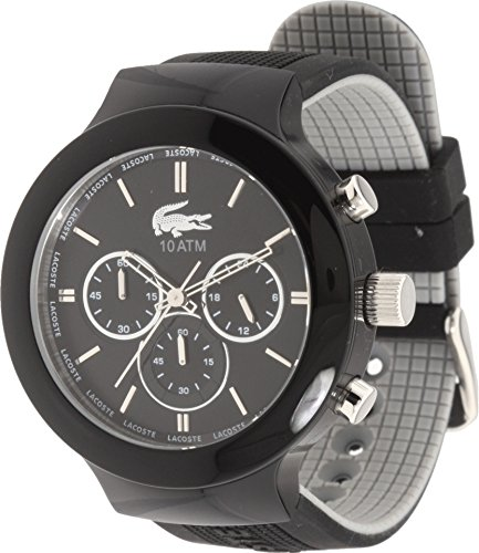 Lacoste Men's 2010651 Borneo Black Watch with Silicone Strap