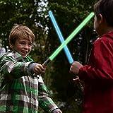 FUN LITTLE TOYS 2 LED Light Saber Connectable Laser Sword, Light Saber for Kids, 2 in 1 Light Sound...