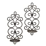 Zingz and Thingz Scrollwork Wall Sconces (Set of 2)