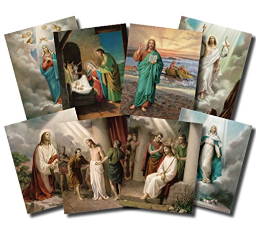 - The Mysteries of the Rosary Illustrated Cardstock Poster Set, 20 Pieces, 10 Inch