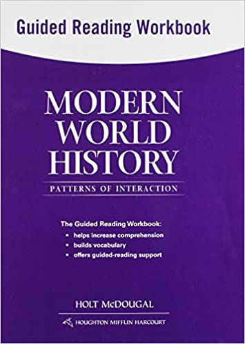 Modern world history patterns of interaction guided reading modern world history patterns of interaction guided reading workbook holt mcdougal 9780547520827 amazon books fandeluxe Choice Image