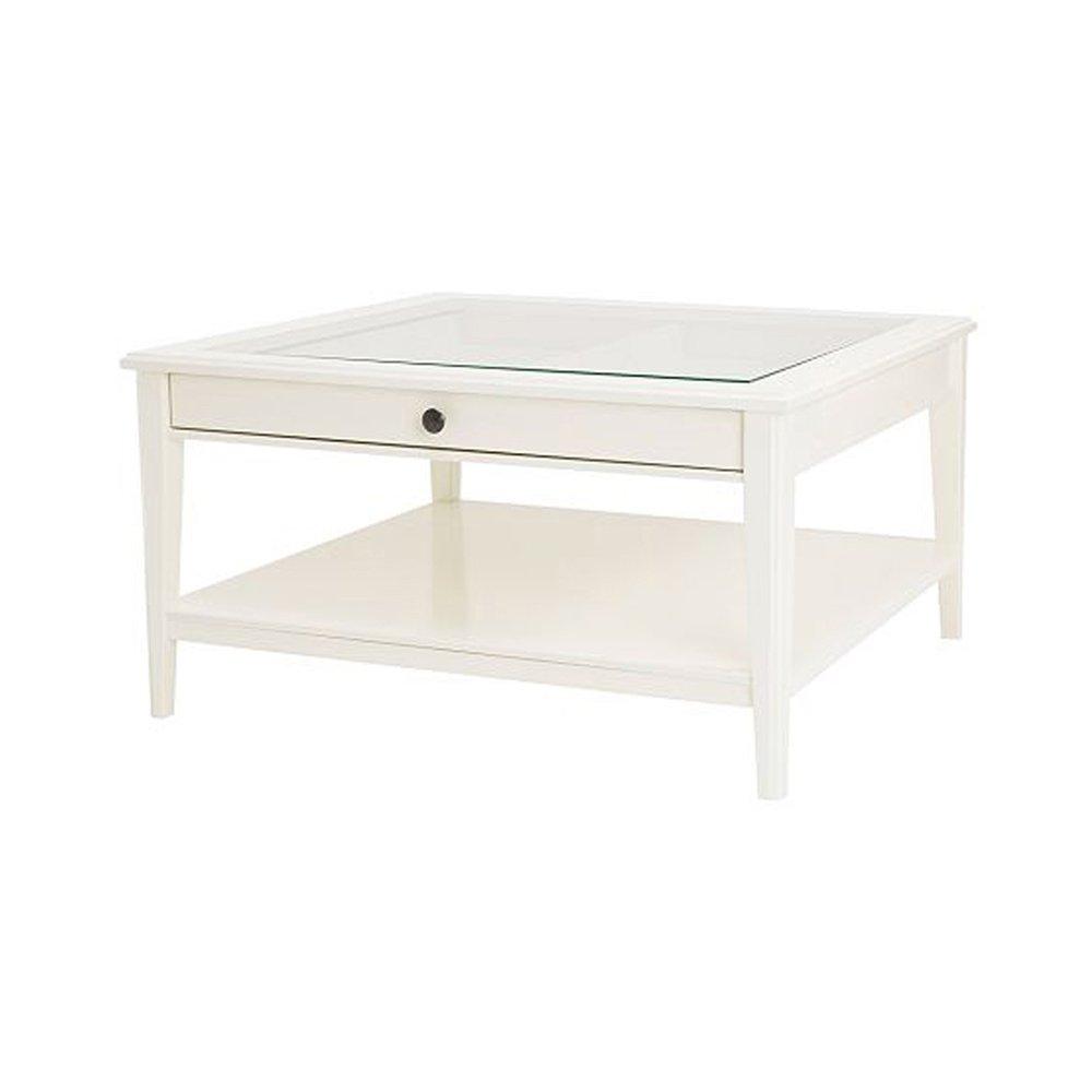 Ikea - Mesa de Centro para Dormitorio (Cristal Blanco ...