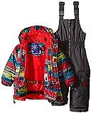 Rugged Bear Baby Boys' Stripe Snowsuit, Grey, 12
