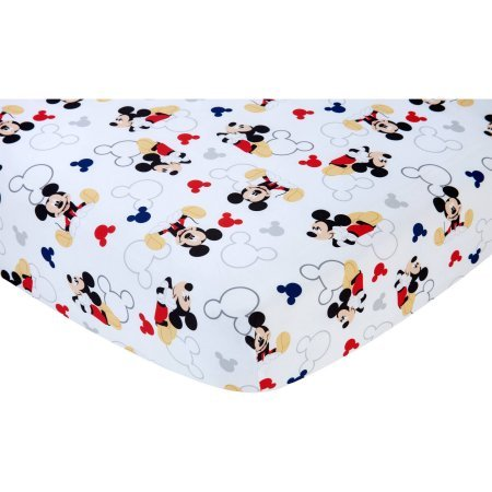 Let's Go Mickey II Crib Sheet (Sheets Bed Toddler Mickey Mouse)