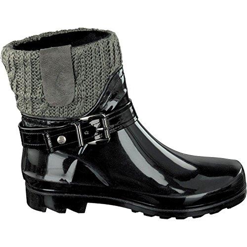 Stivali Donna Gosch Arricciati Sylt Nero grigio Shoes FTqzB