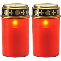 GCDN Lámpara de Vela 2PCS Led Holloween Festival de Ahorro de energía con energía Solar Luz de té Hogar Decoración sin…