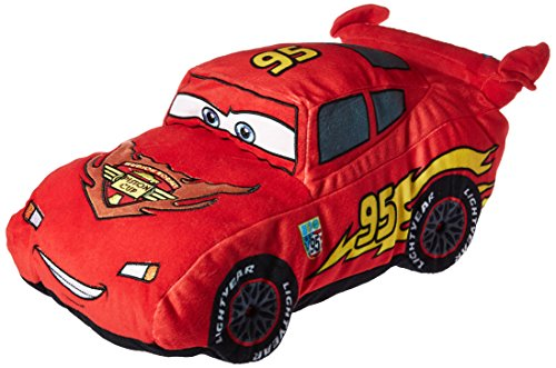 Cars Disney Pixar Plush Stuffed Lightning Mcqueen Red Pillow Buddy - Kids Super Soft Polyester Microfiber, 19 inch (Official Disney Pixar (Disney Cars Pillow)