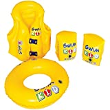 """Set of 4 Yellow Inflatable Swim Kid Children's Swimming Pool Float Learning 20"""""""