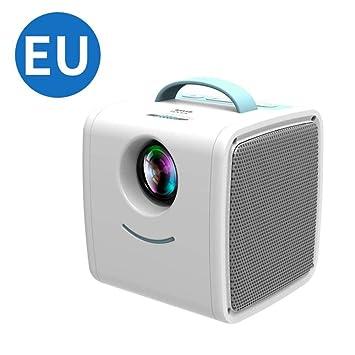 WHLDCD Proyector EU Plus Mini Home Niños Proyector Portátil Led ...