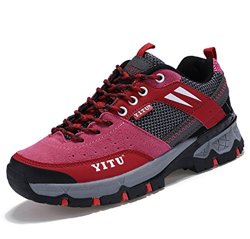 Mountaineer Anti Huaishu Red Leisure Stylish Slip Sports Low Casual Stretchy Women's Hiking Windproof Top Running Shoes Performance Shoes Z55rqR