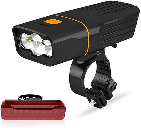 HQXHB Kit de Luces de Bicicleta, luz de Bicicleta de montaña ...
