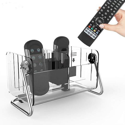 GFDay Soporte para Mando a Distancia de TV, Giratorio 360°, acrílico Transparente, Organizador de Control Remoto, Caja de Almacenamiento para mesita de Noche, Escritorio: Amazon.es: Juguetes y juegos