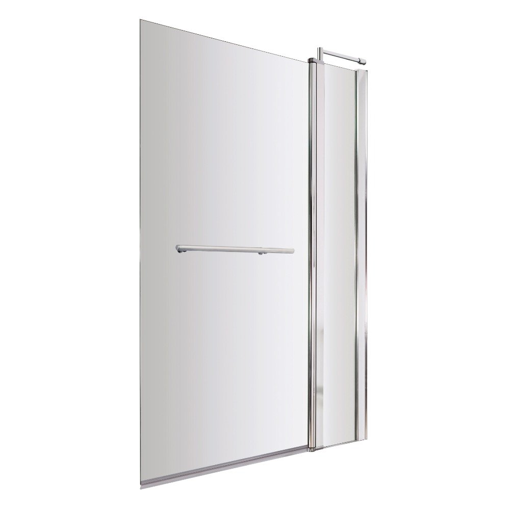 fixed panel shower screen mobroi com premier nssqr2 square bath screen with fixed panel and rail