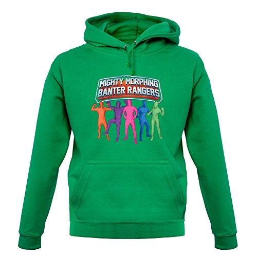 Mighty Morph Rangers - Unisex Hoodie / Hooded Top - Kelly Green - Medium (Green Ranger Morph Suit)