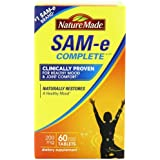 Nature Made SAM-e MoodPlus 200mg Value Size, 60 Tablets (Pack of 3)