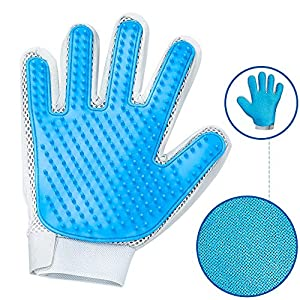 Pet Hair Remover Glove - Gentle Pet Grooming Glove Brush - Efficient Deshedding Glove - Massage Mitt with Enhanced Five Finger Design - Perfect for Dogs & Cats with Long & Short Fur - 1 Pack 2