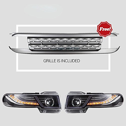 Grille Toyota Fj Cruiser - Vland For Toyota FJ Cruiser LED Headlights 2007-2015 with Grille Head Lights Assembly(US Storehouse)