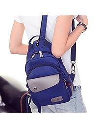 Ms. shoulder bag/Oxford Travel Backpack/Korean tourism small backpack/Multi chest pack-B