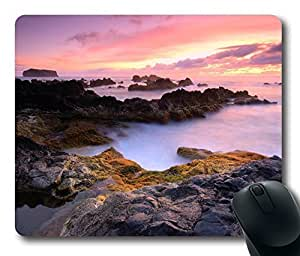 Azores Islands Portugal Atlantic Ocean Mouse Pad Oblong Shaped Mouse Mat Design Natural Eco Rubber Durable Computer Desk Stationery Accessories Mouse Pads For Gift by Maris's Diary