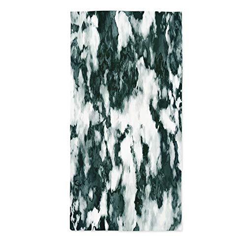Marble Waterproof Tablecloth,Abstract Stone Facet Artistic Blurry Layered Shades Textured Image Decorative for Dining Table Tea Table Desk Secretaire,24''W X 48''L