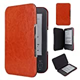 Kindle Keyboard PU Leather Case  Cover Book Style for Amazon Kindle 3rd Generation (2010) with Keyboard & 6'' Display Brown