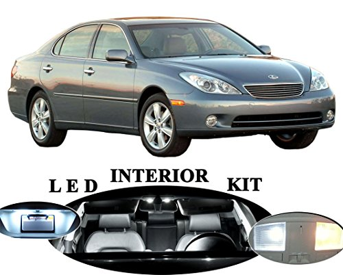 Lexus ES 300 ES 330 Xenon White LED Package Upgrade - Interior + License plate / Tag + Vanity / Sun Visor + Reverse / Backup (15 pieces)