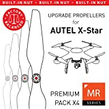 MAS Upgrade Propellers for Autel X-Star with Built-in Nut in White - x4 in Set