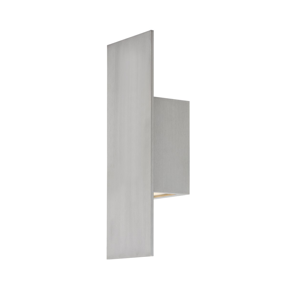 WAC Lighting WS-W54614-AL Icon LED Outdoor Wall Light, 14 Inches, Brushed Aluminum