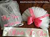 Booty Veil, Booty Cover, TuTu Veil, Bikini Veil ADD a Sash, & Hair Veil, Bachelorette Party - Purchase INDIVIDUALLY OR SET. PERSONALIZED. Designed by CYA Bikini Veils by SashANation!