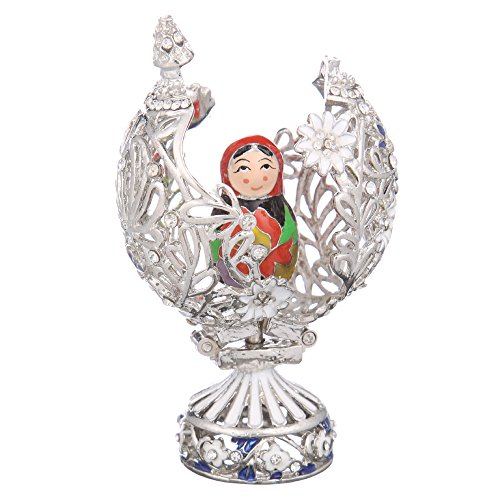 danila-souvenirs Russian Faberge Style Carved Egg with for sale  Delivered anywhere in USA