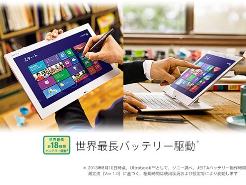 SONY VAIO Duo 13 SVD1321A1J (Win CI7-1.7GHz メモリ-8GB SSD-256GB)