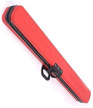 ZXH Funda de Taco de Billar, 3 Colores, 122 cm for Tacos de articulación Central con Capacidad for 4 Billar Snooker (Color : Red): Amazon.es: Deportes y aire libre