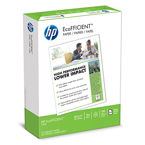 HP Printer Paper, EcoFFICIENT16 Paper, 8.5 x 11 Paper, Letter Size, 16lb Paper, 92 Bright, 1 Ream / 625 Sheets (216000) Acid Free Paper (Making Money Posting Links On The Internet)