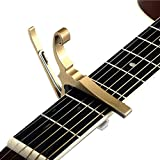 Top Stage Quick Change Guitar Capo for Acoustic Electric Guitar Gold
